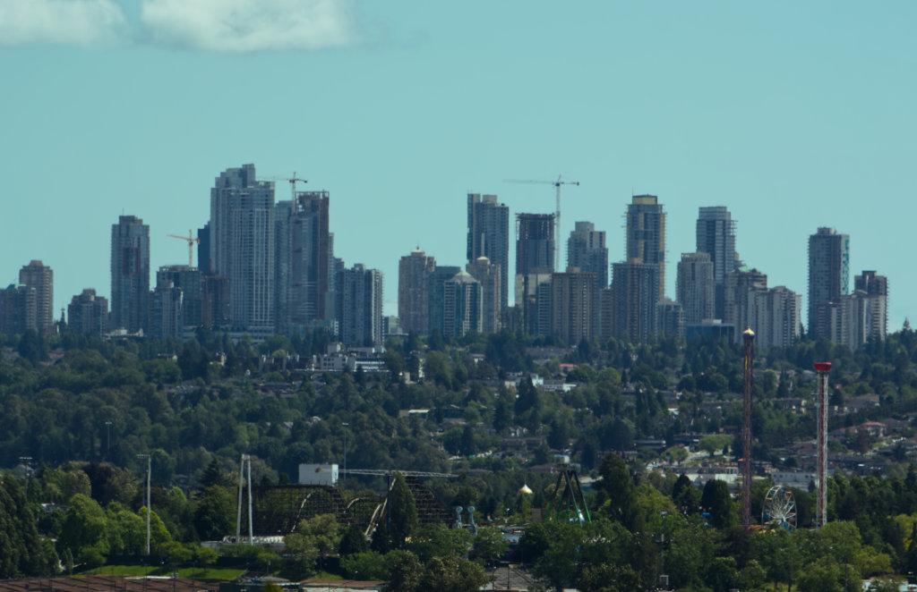 Burnaby as seen from North Vancouver