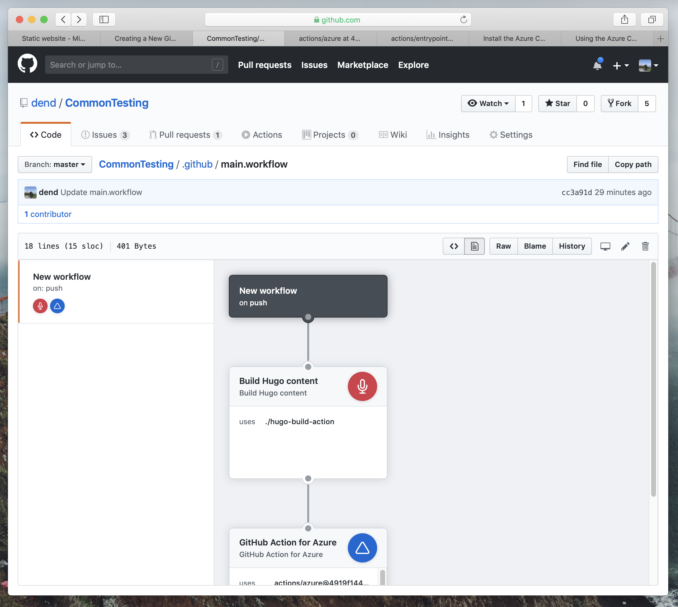 Updated GitHub Actions workflow