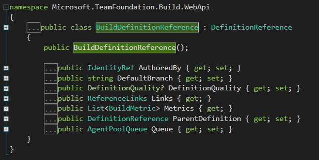Definition Reference Code