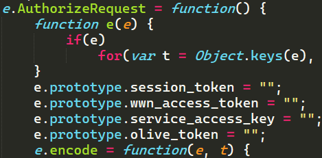 Example of JavaScript function that creates a packet