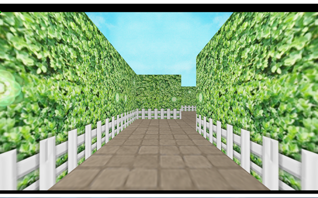 Example of desktop application running with walls rendered