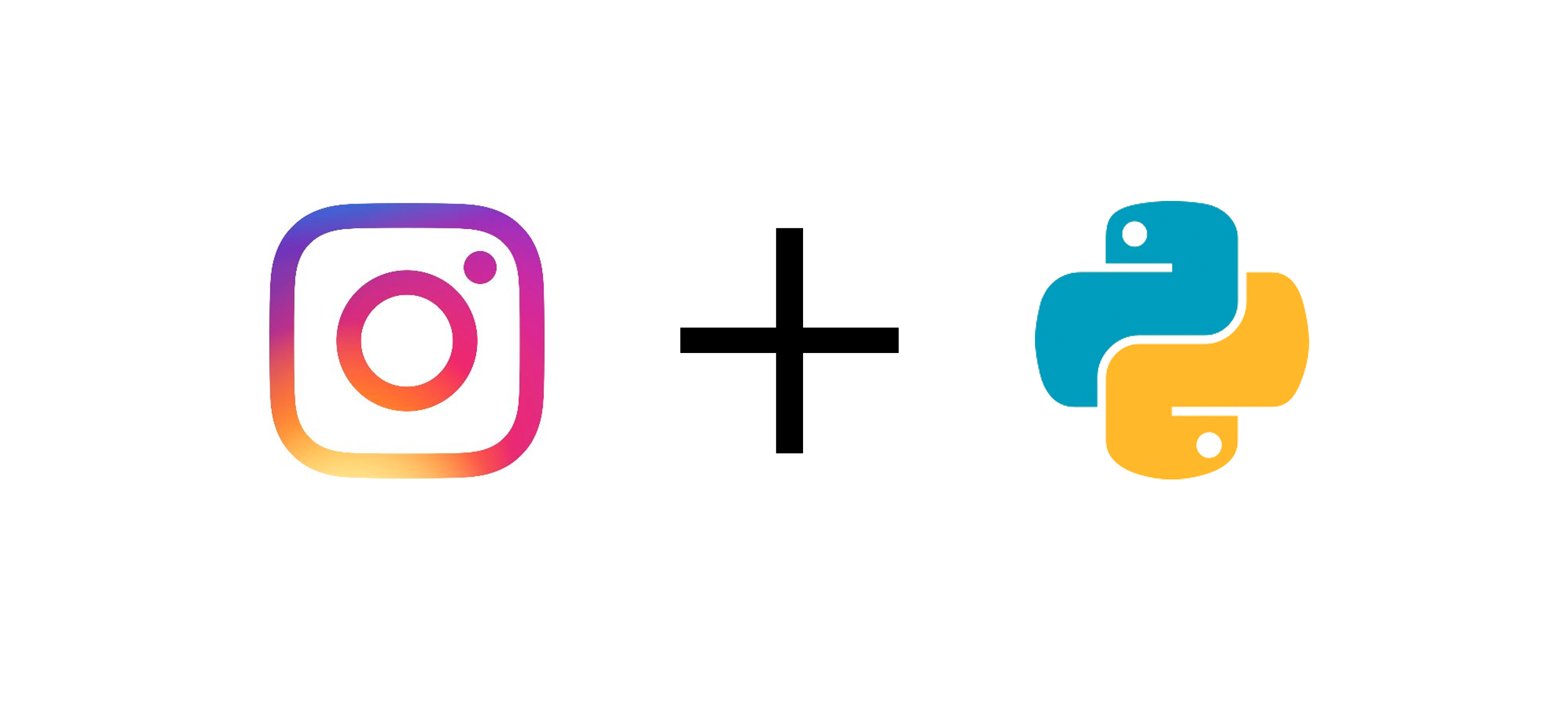 Instagram and Python logos