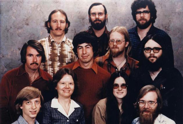 First Microsoft crew in 1978
