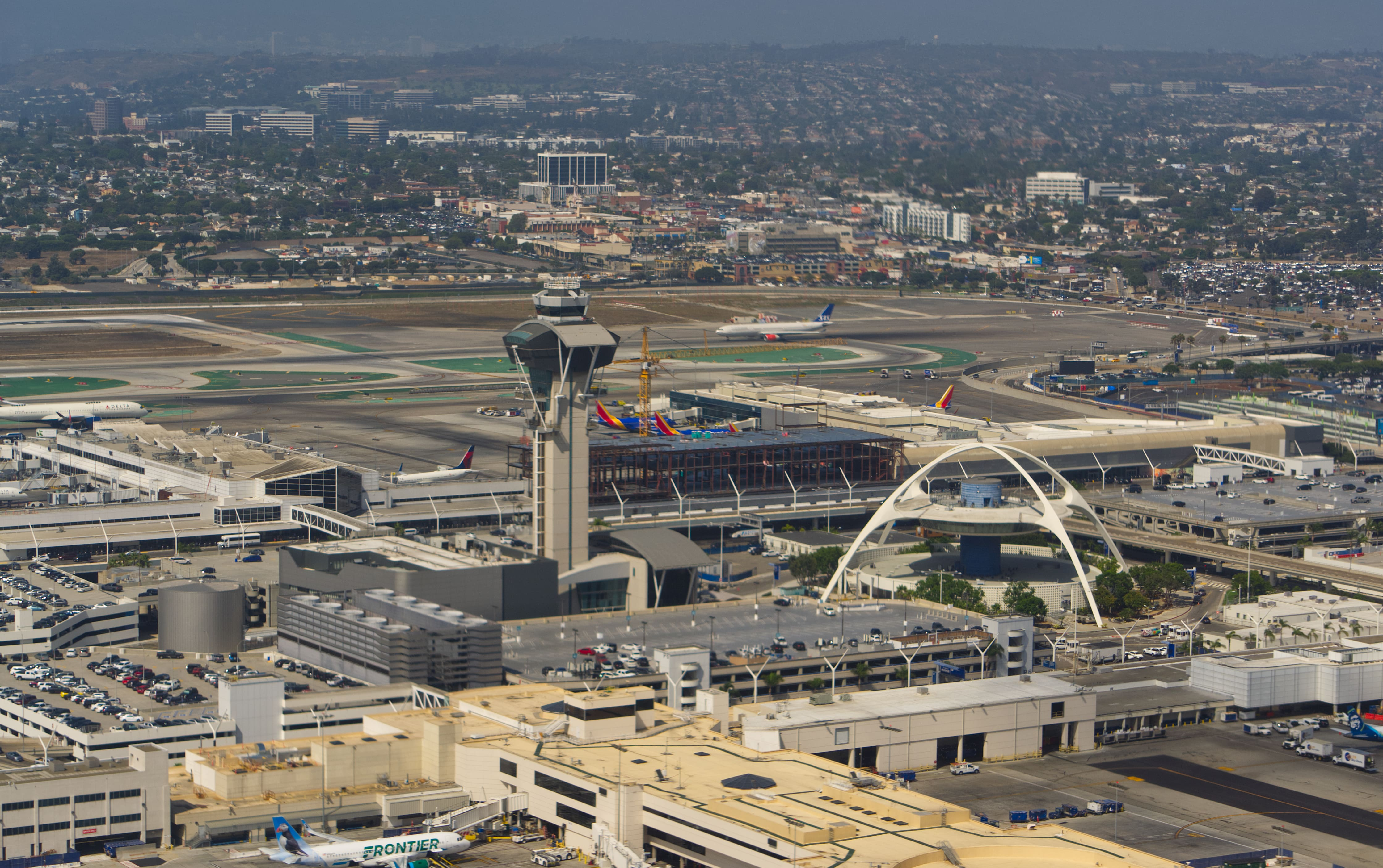 Aerial view of the Los Angeles International Airport