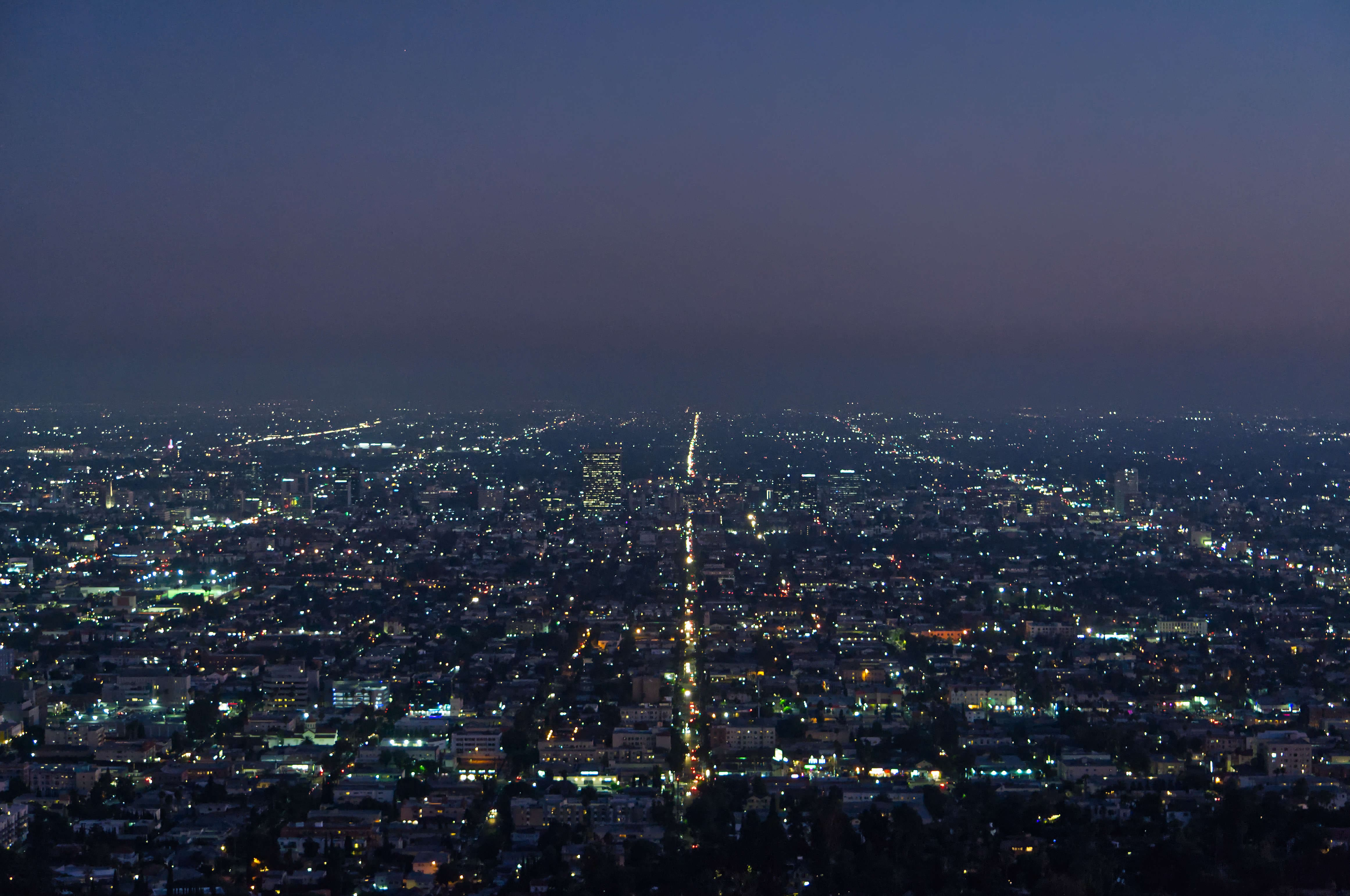 Los Angeles at night, as seen from the Griffith Observatory