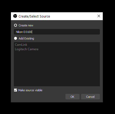 Specifying a name for a capture device in OBS Studio