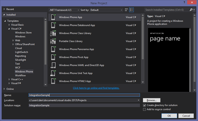 Visual Studio Dialog