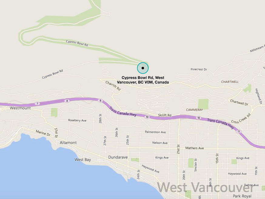 Map - Cypress Mountain Viewpoint